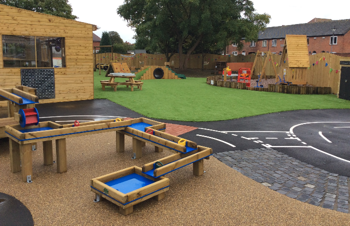 academy outdoor area, early years