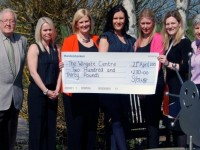 Businesses raise £230 at afternoon tea event for Wingate Centre