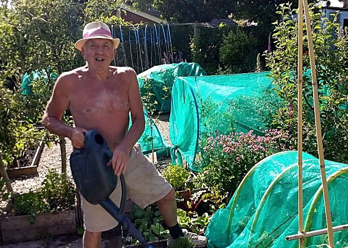 allotment holder Alan Davies at brookfield