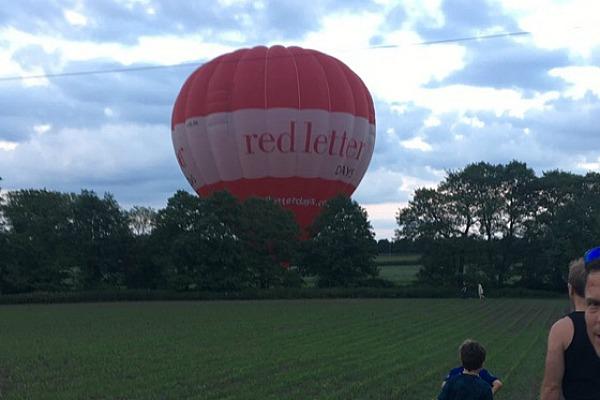 balloon crashing near railway line