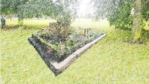 barony park planters - artist sketch