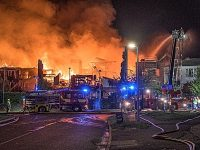 Community praised after huge blaze at Crewe residential complex