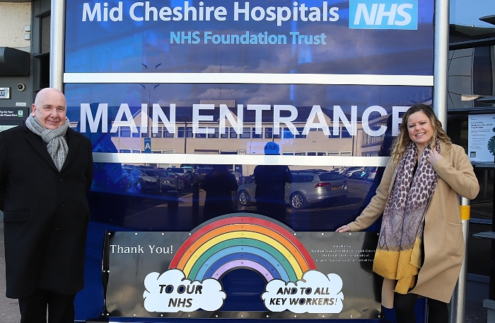 bench donated to NHS key workers