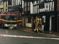 Fire crews tackle fire at historic Black Lion pub in Nantwich
