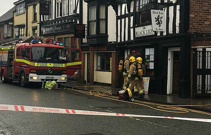 black lion pub fire welsh row, pic by Sharon Jones