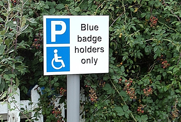 blue badge holders - pic by Adrian Cable under creative commons licence
