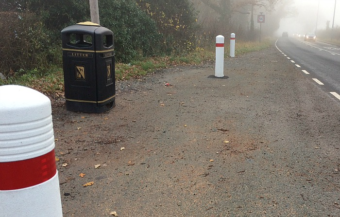 bollards-on-a530-layby-wistaston