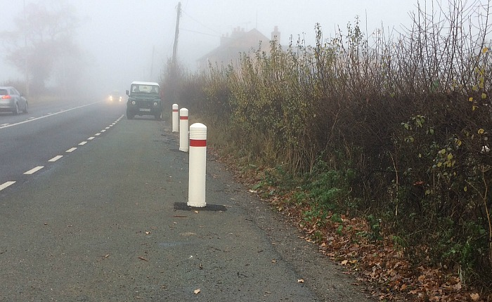 bollards-on-a530-to-stop-lorry-drivers