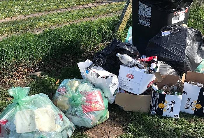 brookfield park rubbish