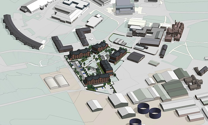 building work at reaseheath - 3d site diagram view D