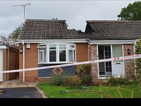 Firefighters tackle blaze at a bungalow on Cheyne Walk, Nantwich