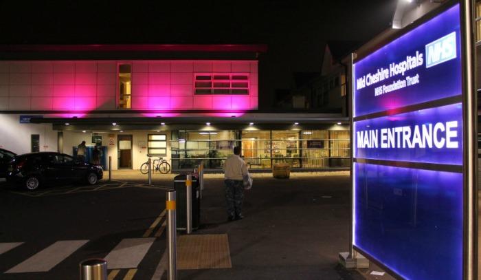 cancer unit turns purple at leighton hospital