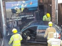 Car crashes into shop front on Hospital Street, Nantwich