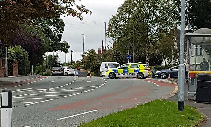 car and HGV crash A534 Nantwich Road - pic by Stuart Boughey