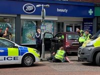 Woman injured after car crashes into shop in Nantwich town centre
