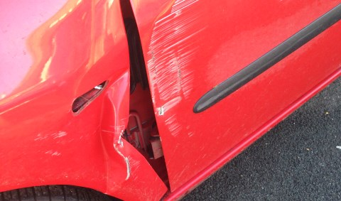 Angry driver and police hunt van after non-stop smash in Nantwich