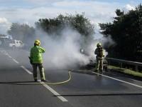 Car fire on A500 sparks peak hour delays across Nantwich