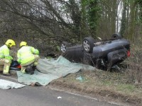 Man injured after car overturned in Nantwich