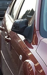 car wing mirror damaged on Millstone Lane