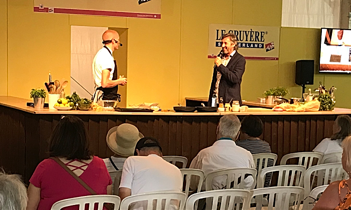 celebrity chef Will Holland at Nantwich Show