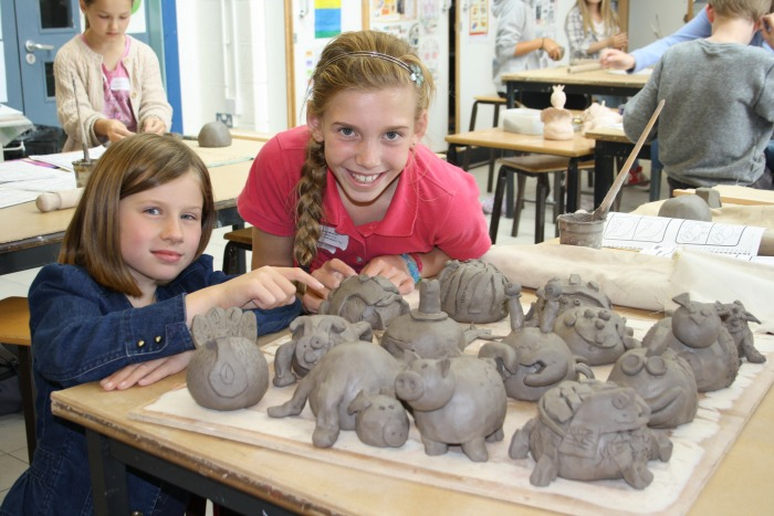 ceramics workshop, Brine Leas Activity Day, Isobel Scott, Bridgemere and Lara Boschi, Weaver