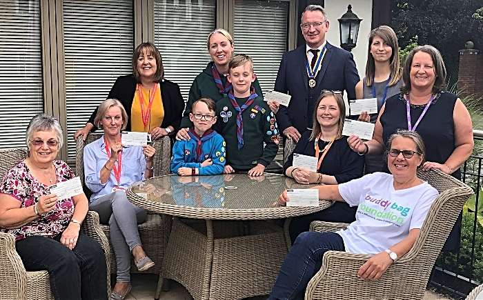 charities donated money by Wych-Malbank Rotary