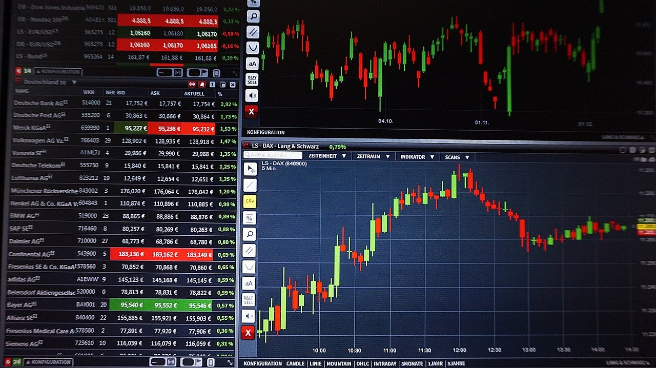 forex chart - trading - by pixabay