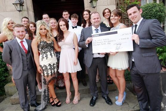Reaseheath college cheque handover to St Luke's Cheshire Hospice