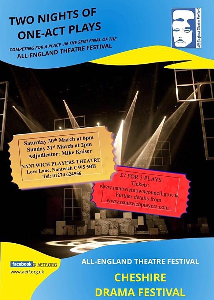 cheshire drama festival poster