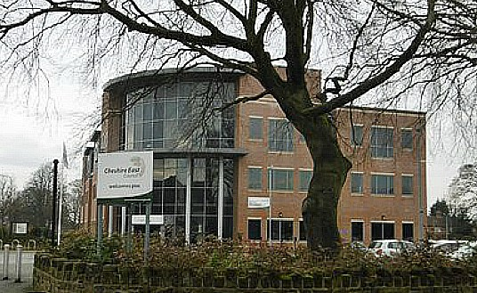 Council Tax hike - cheshire east council headquarters - pic by Mike Faherty