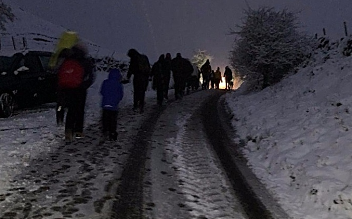 cheshire police rural team rescue from snow 1
