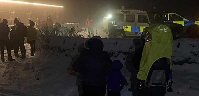 cheshire police rural team rescue from snow 3