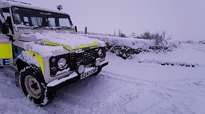 cheshire police rural team rescue from snow 5