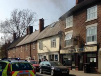 Fire crews battle chip shop blaze in Welsh Row, Nantwich