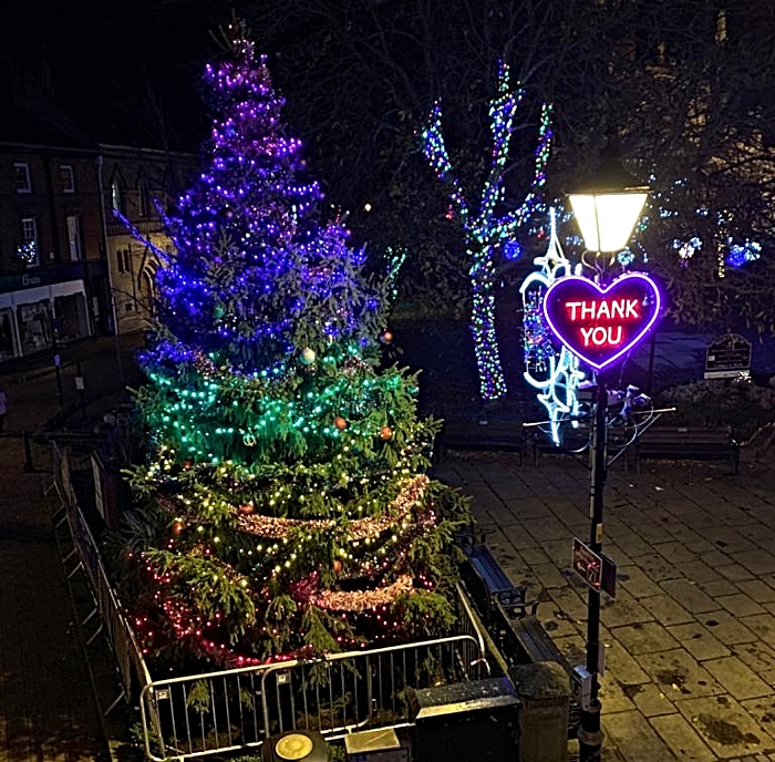 christmas lights switch on nantwich 3
