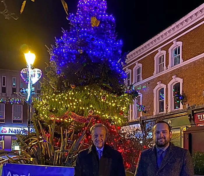 christmas lights switch on nantwich