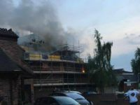 Fire crews battle blaze in roof of former Nantwich Methodist Church