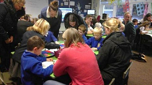 class in full flow at Wybunbury Delves, Ofsted