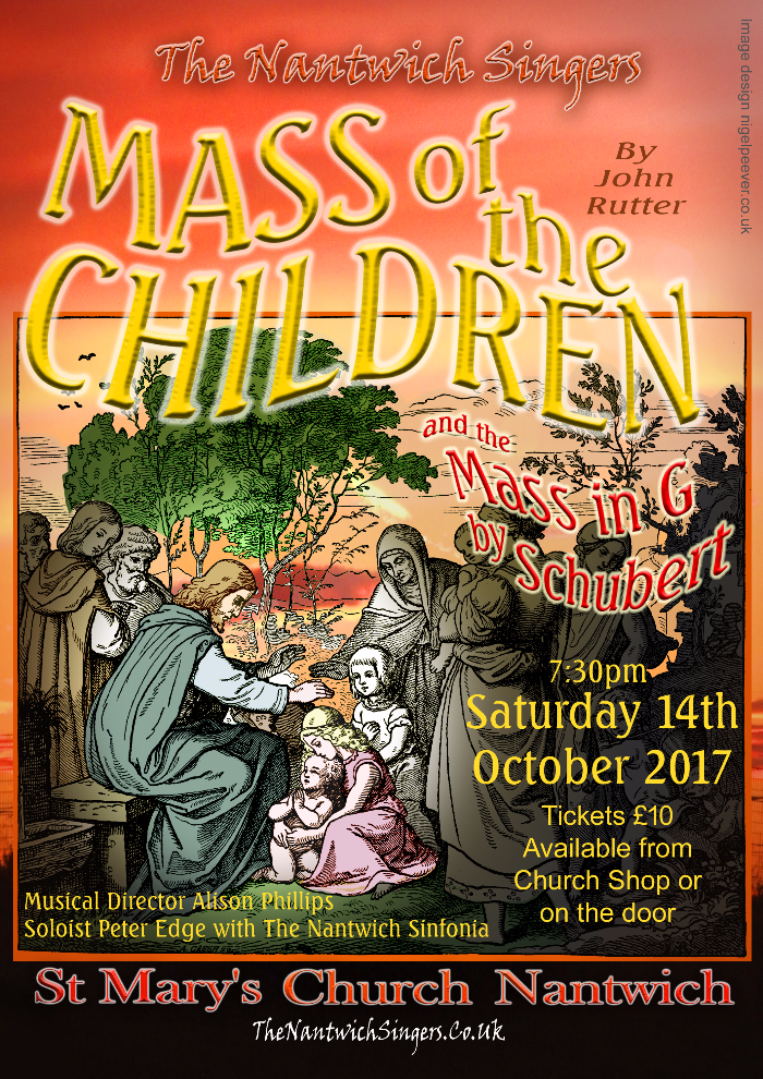 concert poster, Nantwich Singers