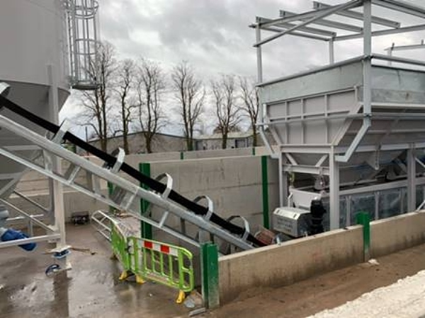 concrete plant being built at wrenbury