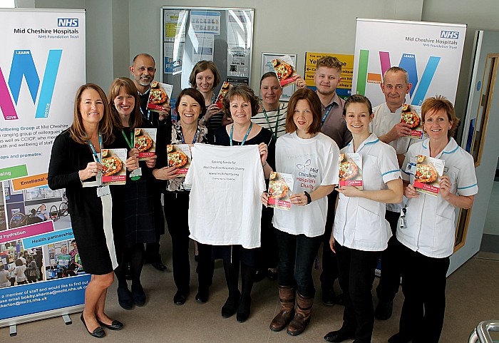 cook book launch at Leighton Hospital