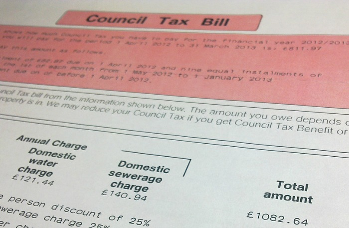 households - council tax bill - pic by Vincent Li under creative commons licence