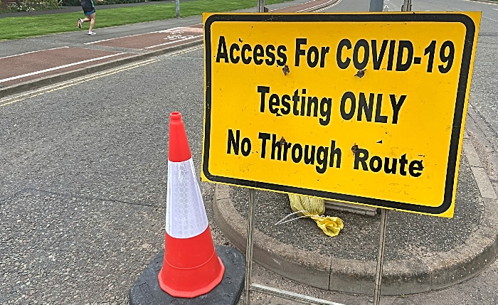 covid-19 testing sign