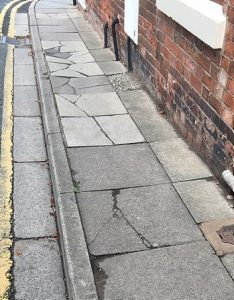 cracked paving slabs in nantwich