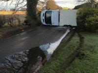 Drivers demand action after van crash on flooded Willaston road