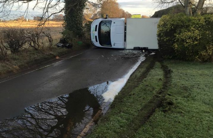 crash on Eastern Avenue in Willaston after flooding