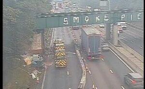 crash scene on M6