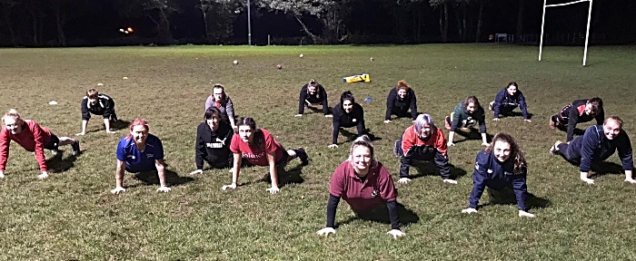 crewe and nantwich ladies burpees challenge