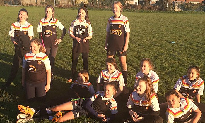 crewe and nantwich rufc U13s girls team