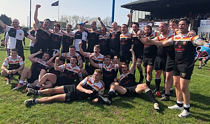 crewe and nantwich rufc celebrate cup win